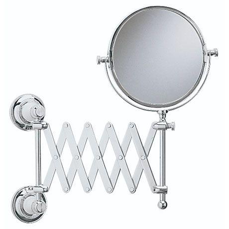 Heritage Clifton Extendable Mirror Chrome At Victorian Plumbing Extendable Mirrors Extendable Bathroom Mirrors Mirror