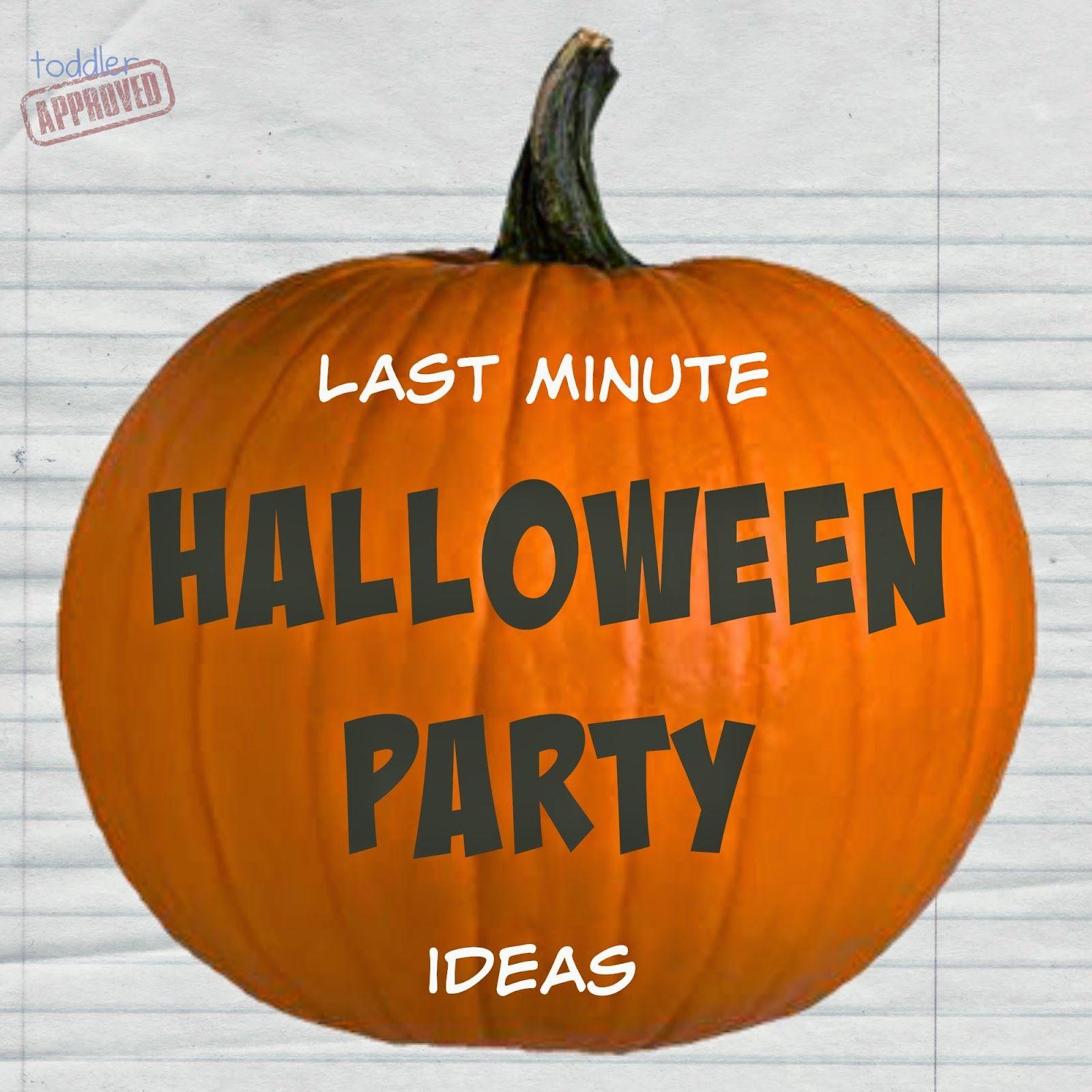 Last Minute Halloween Party Ideas Halloween Parties