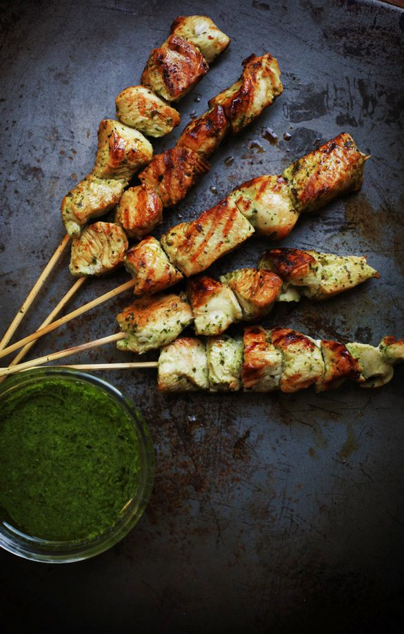 Grilled Chimichurri Chicken Skewers Recipe
