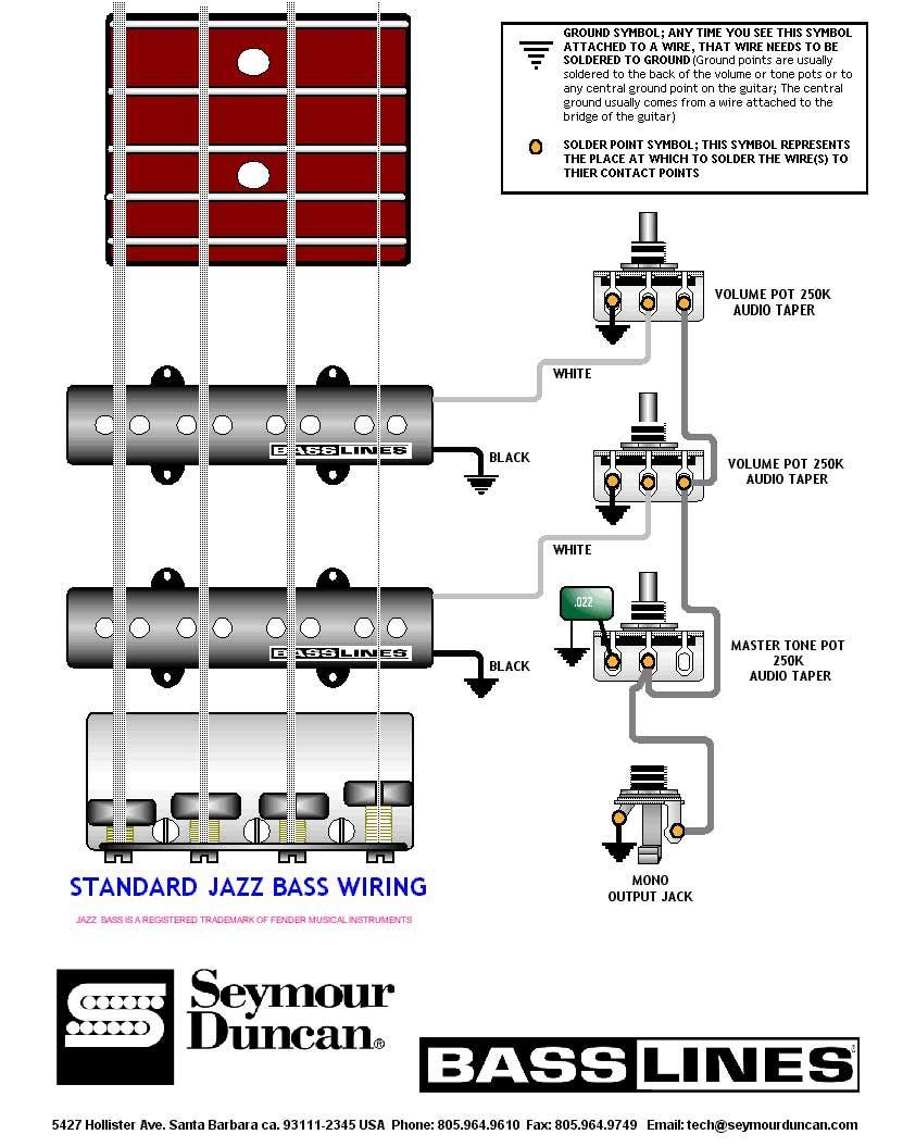 Bass Guitar Wiring Diagram Nilzanet – Bass Wiring Diagrams