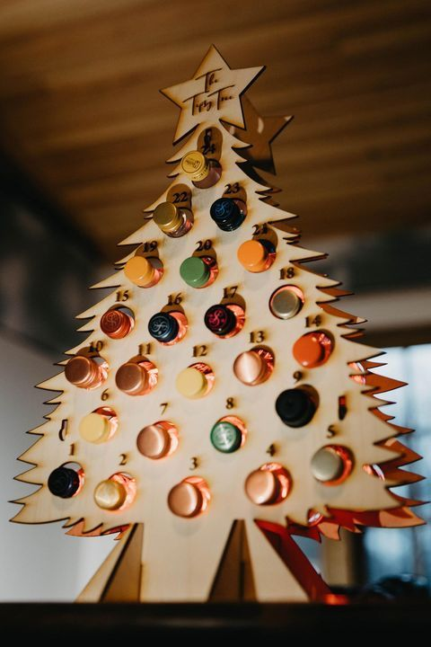 Your Christmas countdown could look a little different this year with a tipsy tree advent calendar: simply fill each day with a different beverage of choice for an extra merry holiday season.