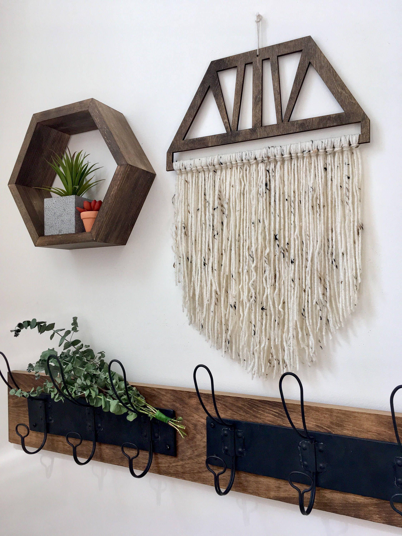 Bohemian Yarn Wall Hanging   Modern Yarn Wall Hanging ... on Modern Boho Wall Decor  id=19064