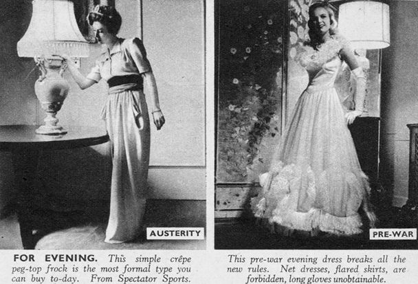 British wartime fashion, for evening | Historic/Vintage Clothing ...