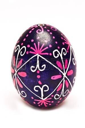 un huevo de Pascua ucraniano Pysanka photo
