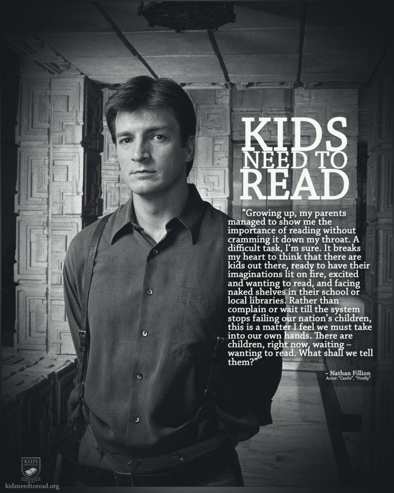 The fact that Nathan Fillion is a bookworm only adds to his awesomeness