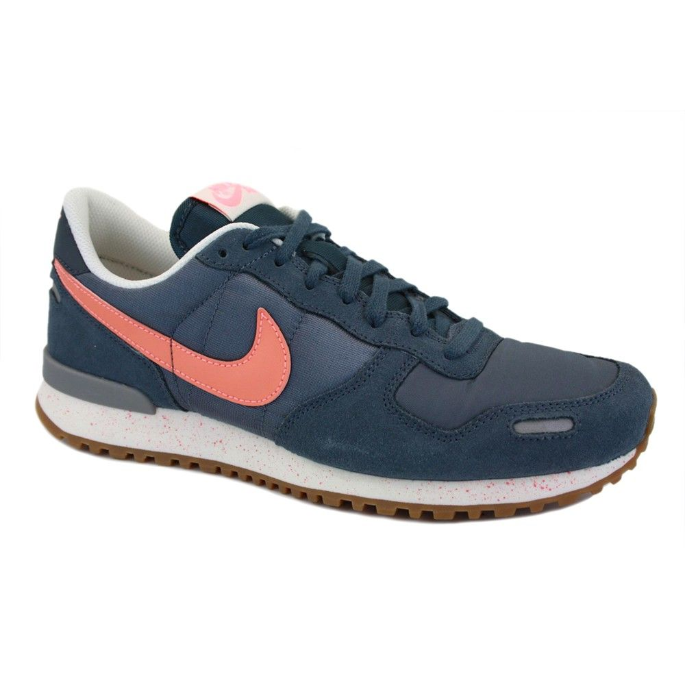 Nike Air Vortex Vintage 579764 401 Womens Laced Suede   Nylon Trainers Navy  Orange 97126fe25819