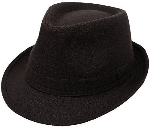 24e1925b527 Simplicity Unisex Timelessly Classic Manhattan Fedora Hat... https://www.