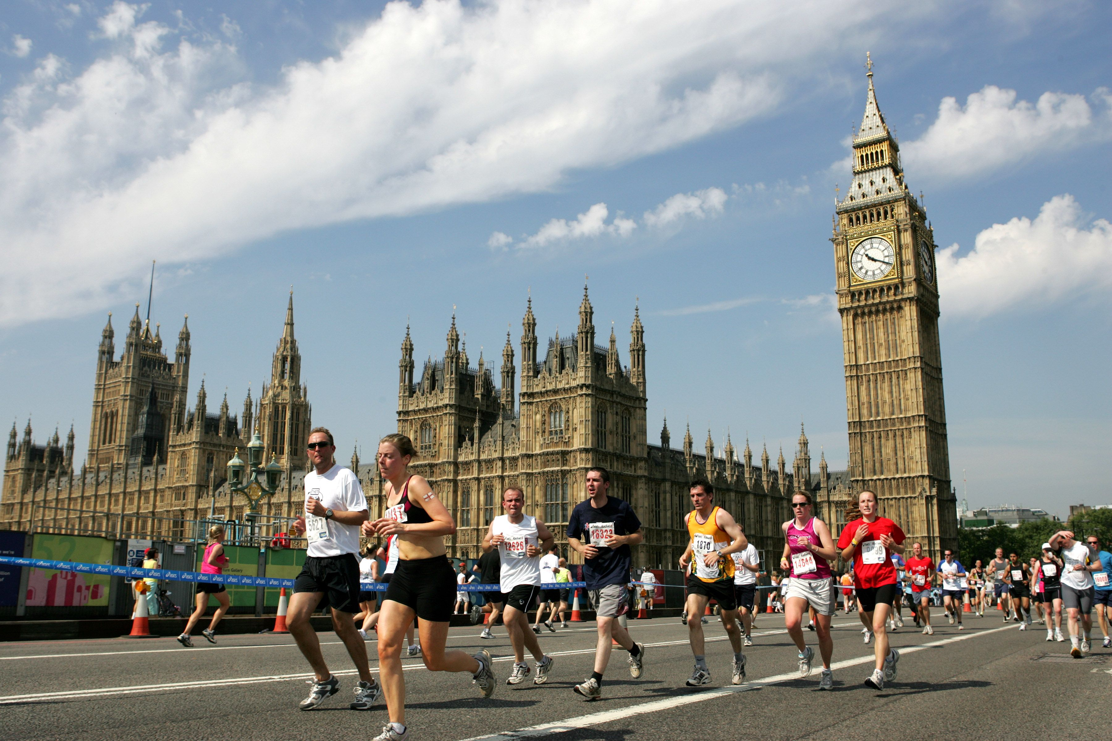 Running past big ben in the sun what could be better british k