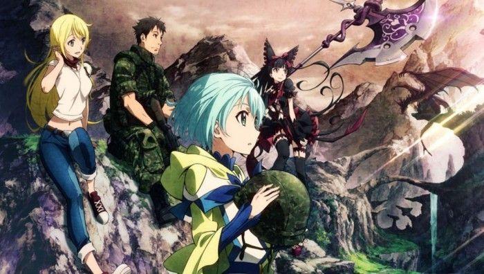 Animes Parecidos A Gate Jieitai Kanochi Nite Kaku Tatakaeri Arte De Anime Anime Anime Manga