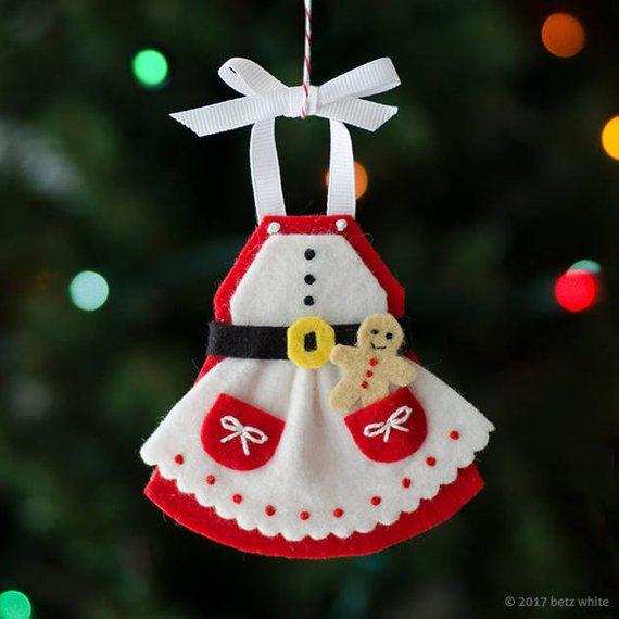 Mrs. C\'s Apron Ornament PDF PATTERN | Geschäfte, Tannenbaum und ...