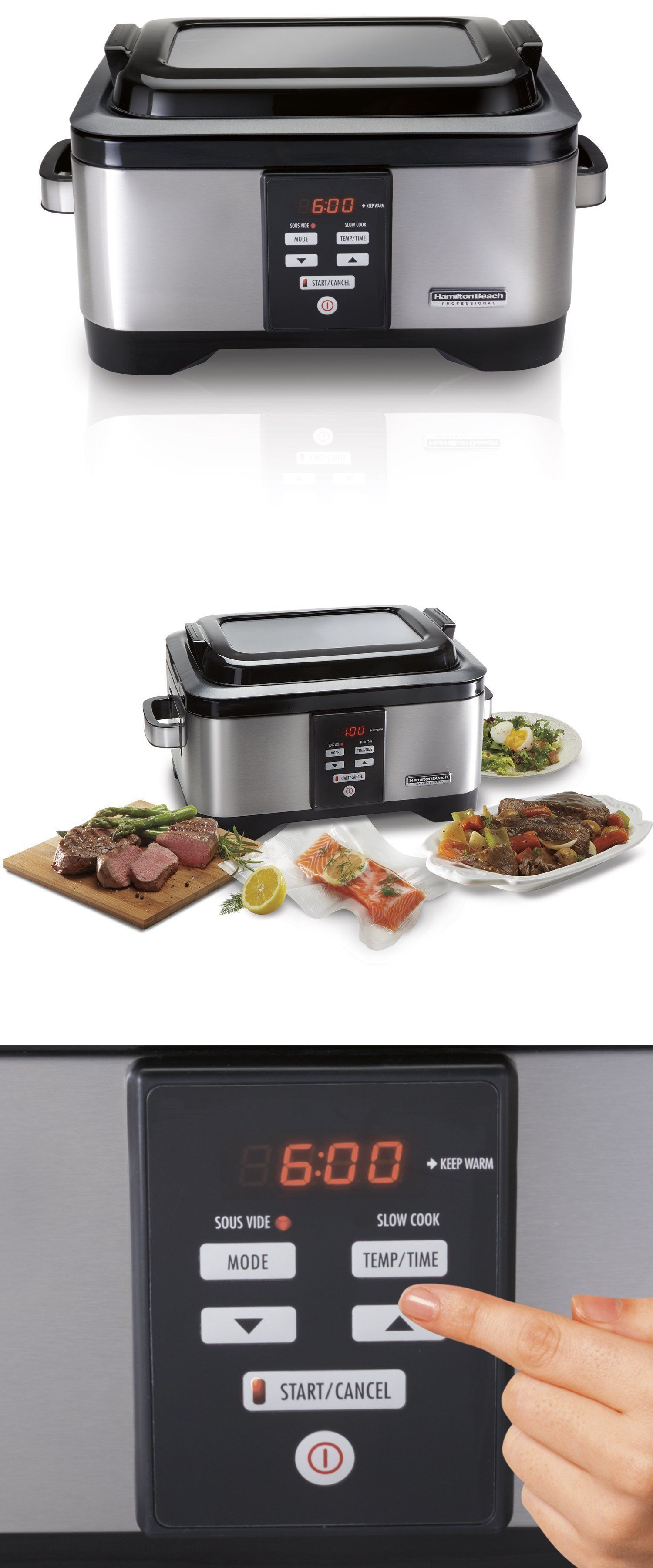 Uncategorized Ebay Kitchen Appliances small kitchen appliances hamilton beach professional sous vide 6 qt slow cooker stainless steel 33970