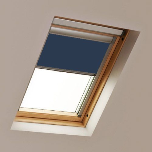 Rooflite Navy Blue Roof Skylight Blind Rooflite Roof