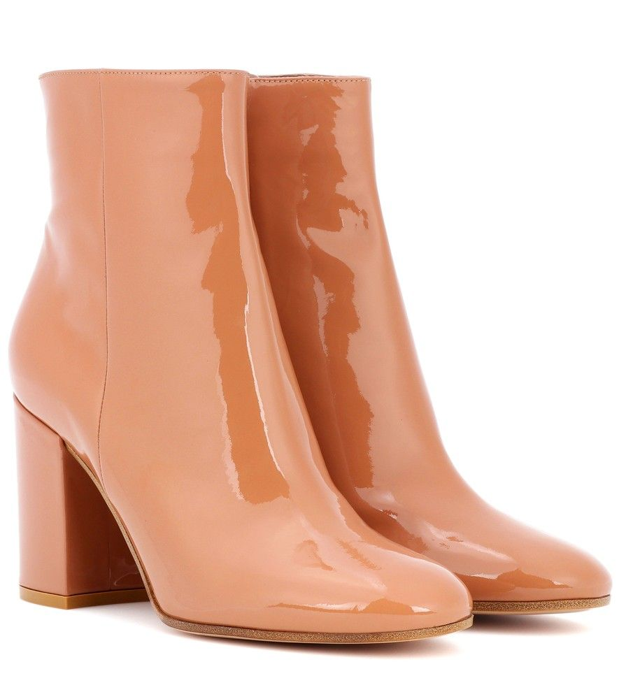 Gianvito Rossi Exclusivité mytheresa.com - Bottines en cuir verni Rolling 85