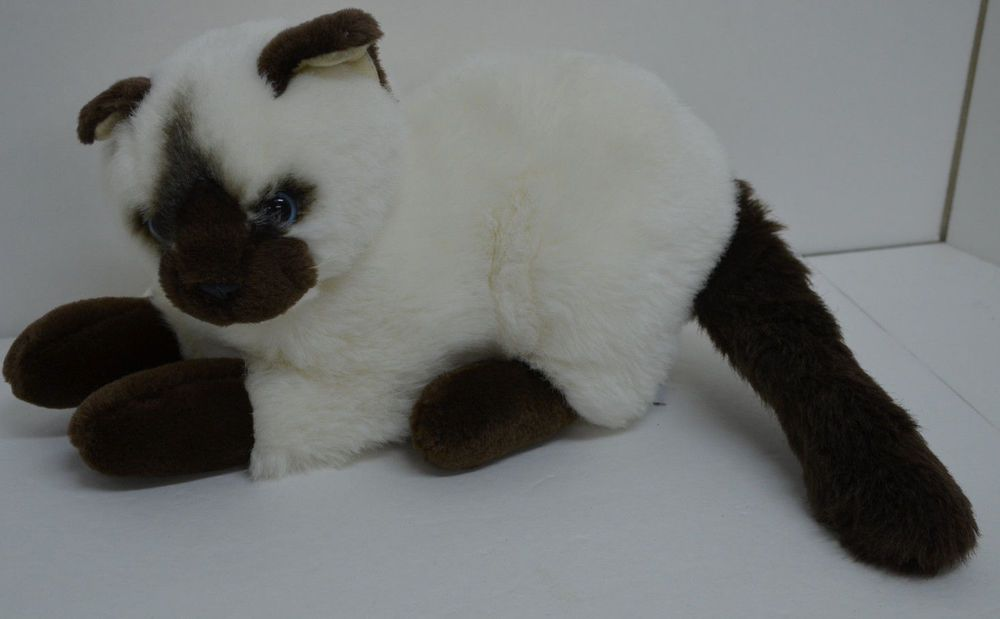 Geoffrey Siamese Cat Plush Kitten Cream Brown Blue Eyes Laying Stuffed 12 Toysrus Http Stores Ebay Com Lost Loves Toy Chest Cat Plush Siamese Cats Kittens