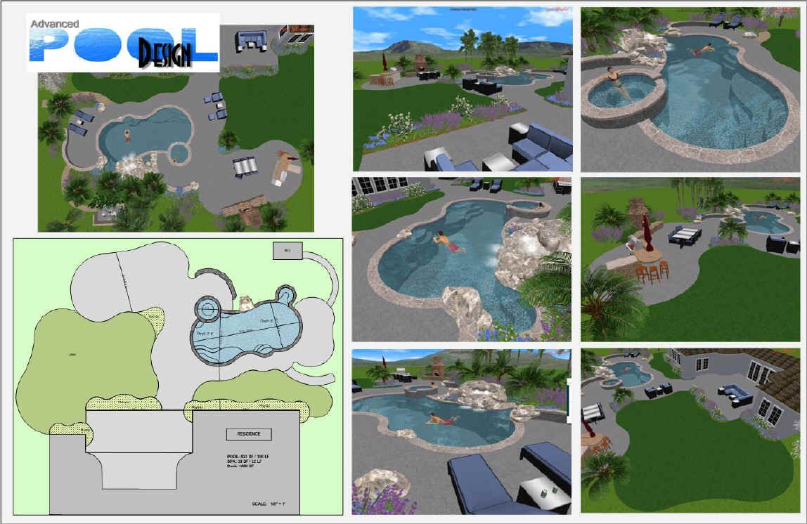 Simple swimming pool drawing swimming pool design plans for Pool design program