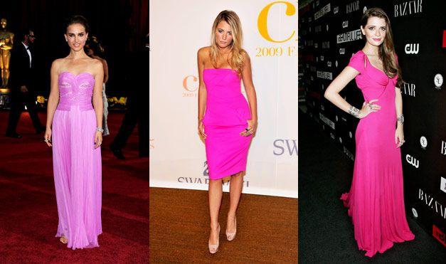 Neon Pink Celebrity Dresses | Neon pink dresses, Pink midi ...
