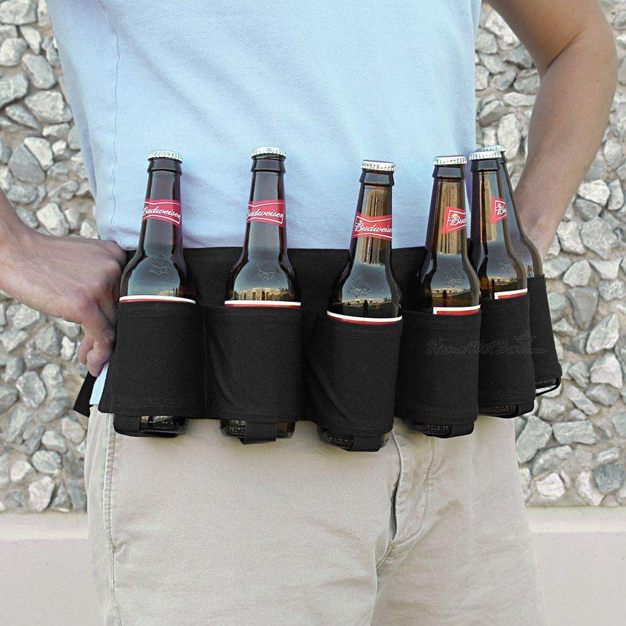 Outdoor Six Pack Beer Belt Bottle Waist Bag Portable Beverage Camping  Holder   Beer holster, Beer holders, Beer bottle