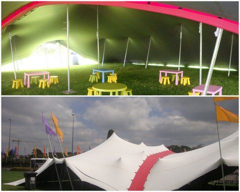 Silver/White stretch tents with a red connector - .stretchtents.co & Silver/White stretch tents with a red connector - www.stretchtents ...