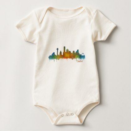 Dallas texas city watercolor skyline hq v2 baby bodysuit baby dallas texas city watercolor skyline hq v2 baby bodysuit negle Images