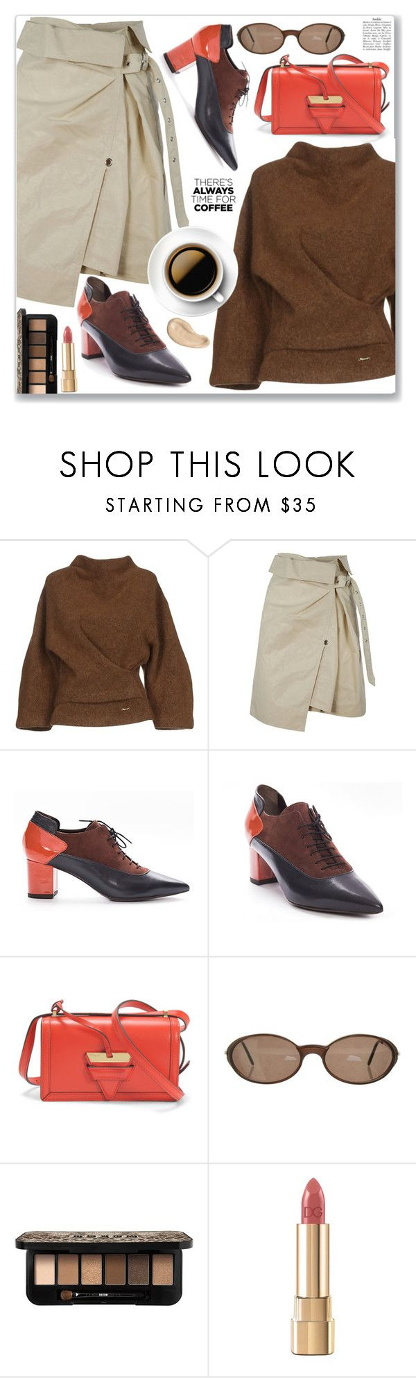 """""""Work Wear Skirt, Sweater and Shoes"""" by jecakns ❤ liked on Polyvore featuring Dsquared2, Isabel Marant, Loewe, Cartier and Dolce&Gabbana"""