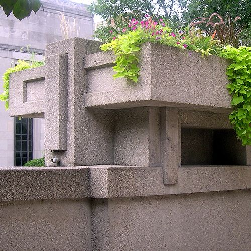 Unity Temple Planter Exterior Frank Lloyd Wright