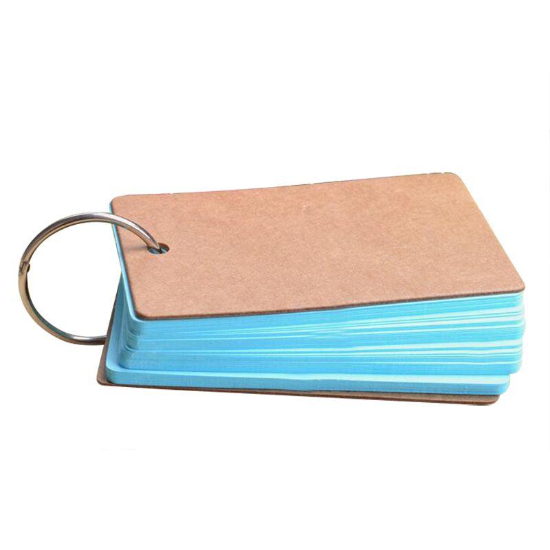 Cute Kawaii Candy Color Blank Kraft Paper Memo Pads Portable - blank memo