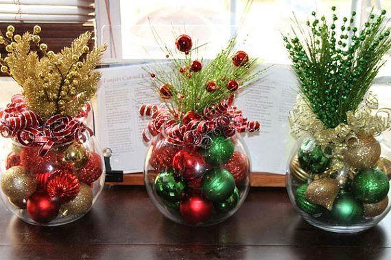 enfeite mesa natal barato - Pesquisa Google Christmas Pinterest