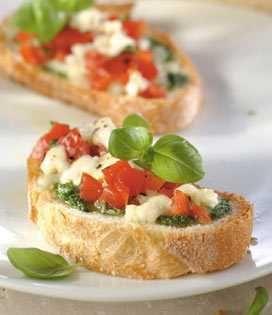 Bruschetta à la Mozzarella et au Pesto #recetteapéritif