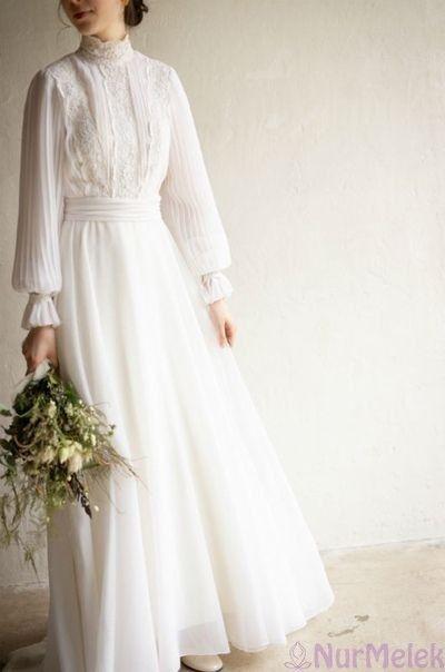 En Guzel 20 Beyaz Tesettur Abiye Modeli 2020 Sifon Gelinlikler Gelin Stili Gelin Elbisesi