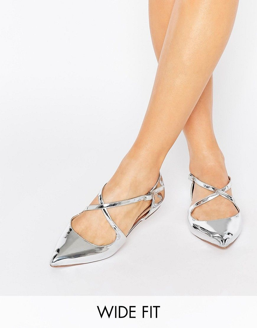 0c90725c2f1 Image 1 of ASOS LIVE FOR THE MOMENT Wide Fit Ballet Flats
