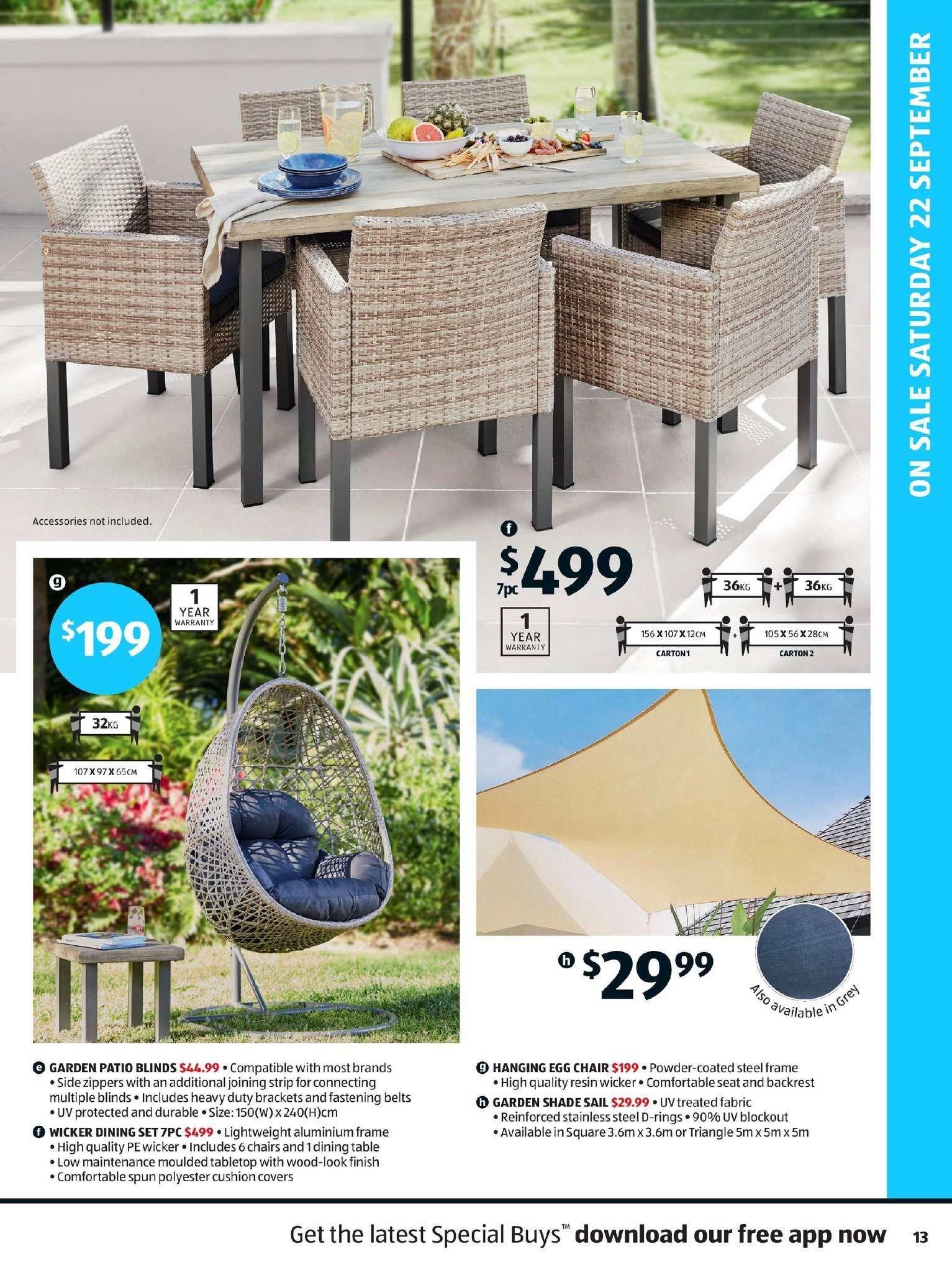 Current Catalogue Aldi Outdoor Furniture Sets Patio Blinds