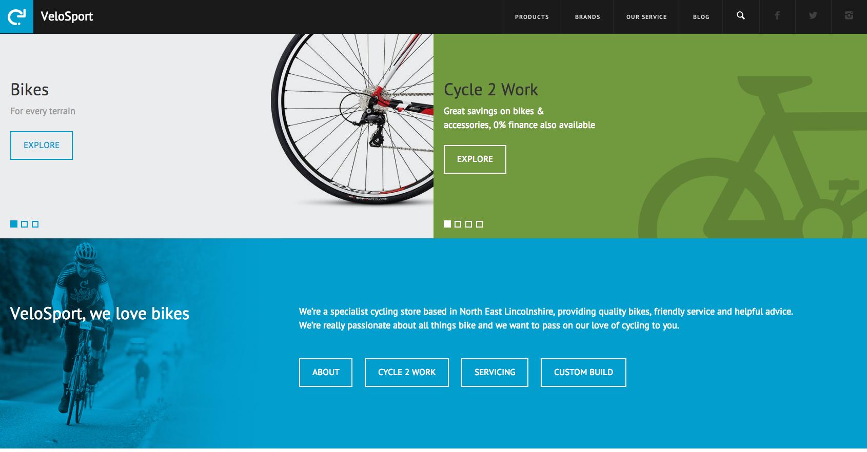 Velosport Module Style Color Lincolnshire Site Design Web Design