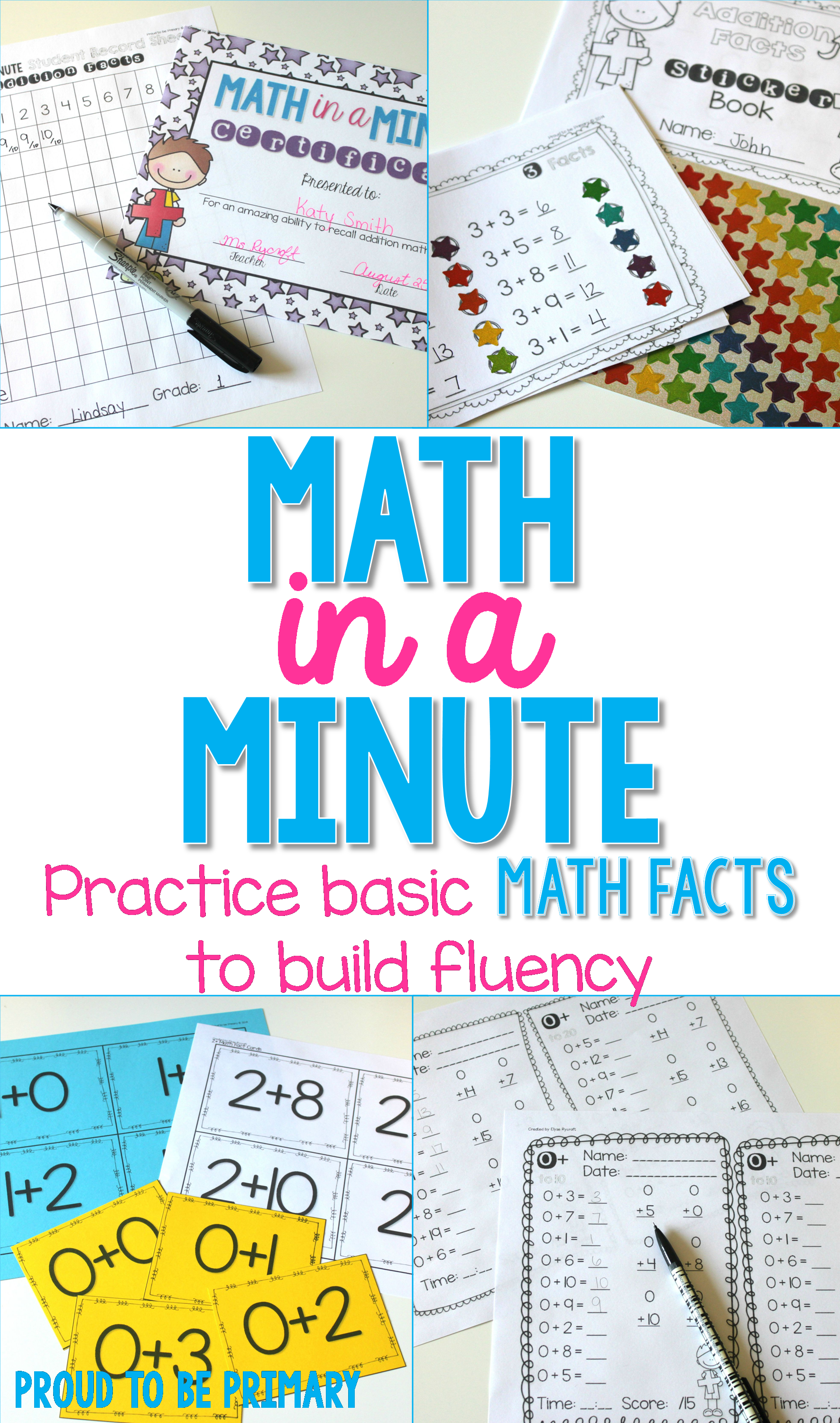 Math in a Minute by Proud to be Primary. Build your addition and ...