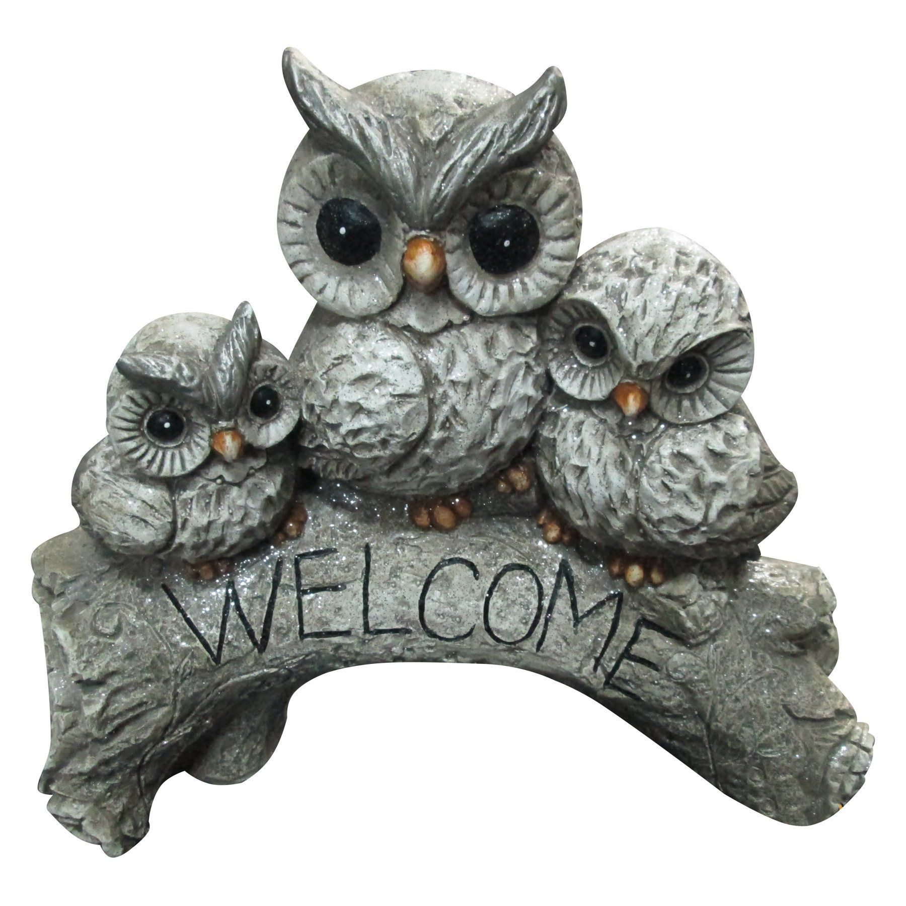 Welcome Statues Garden Alpine Corporation Alpine Owl Family Welcome Statue Qwr442