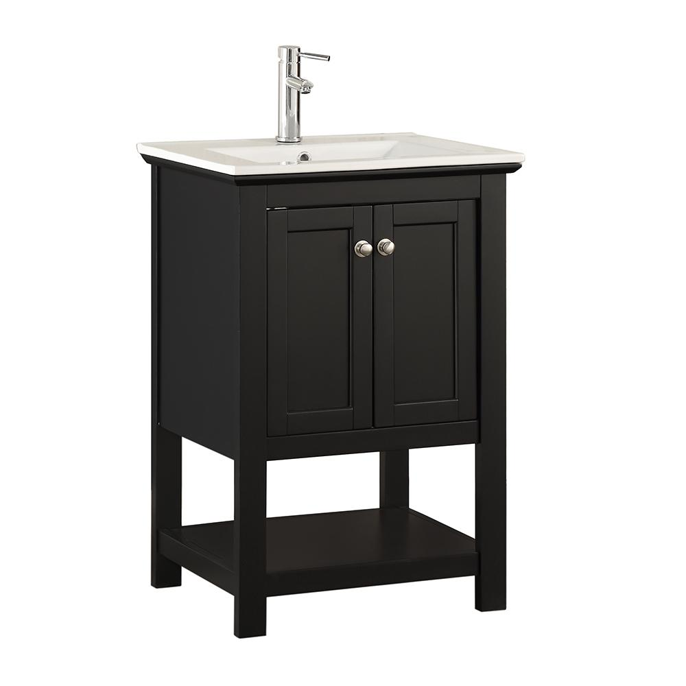 Fresca Bradford 24 In W Traditional Bathroom Vanity In Black With