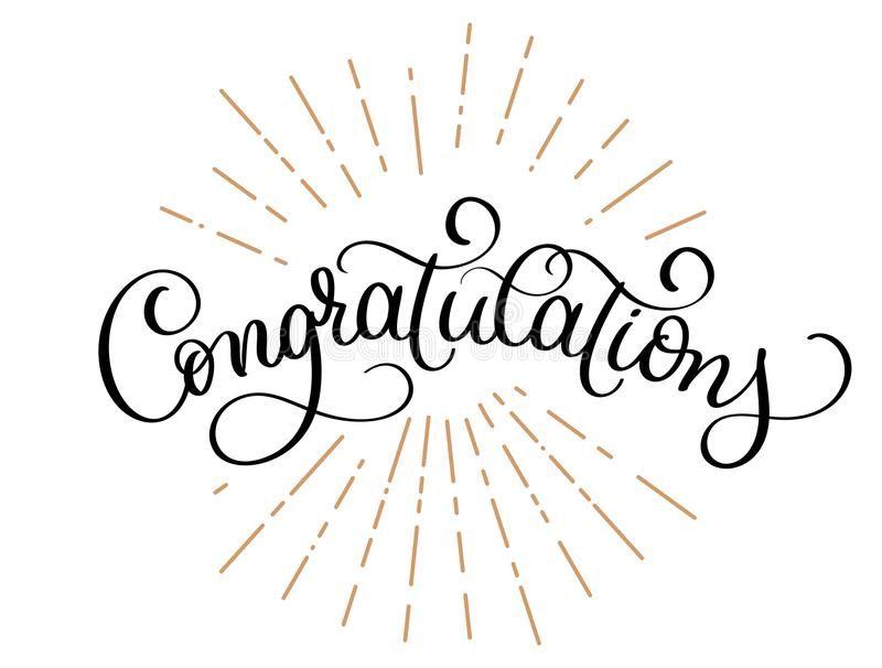 Congratulations Calligraphy Vector Hand Written Text Lettering Calligraphic Ba Ad Vector Hand Congratulations Ca Lettering Calligraphy Handwriting