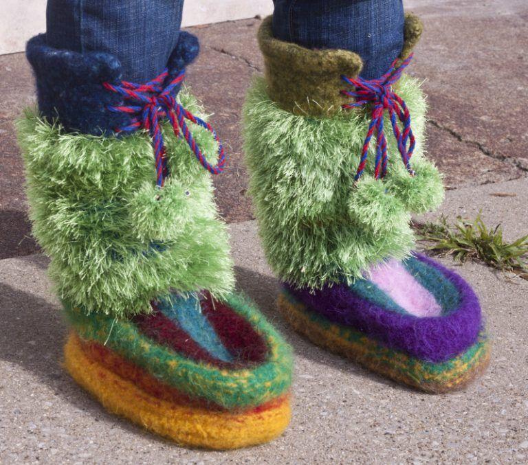 Knitting Pattern Mowat Mukluks Knit Slippers Pinterest