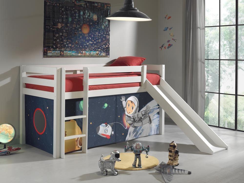 Halfhoogslaper 190 Cm.Halfhoogslaper Astrid Wit Space Children S Room Space Toddler