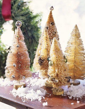 How to make beautiful vintage bottle brush Christmas trees I\u0027ve