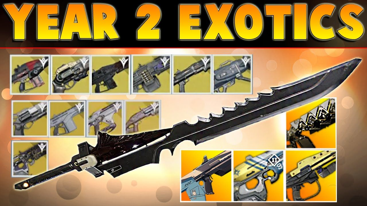 Destiny year 2 all exotic weapons the taken king gameplay all exotic weapons from year 2 of destiny the taken king all these exotic weapons look incredible here is gameplay and a small breakdown of them all d malvernweather Images