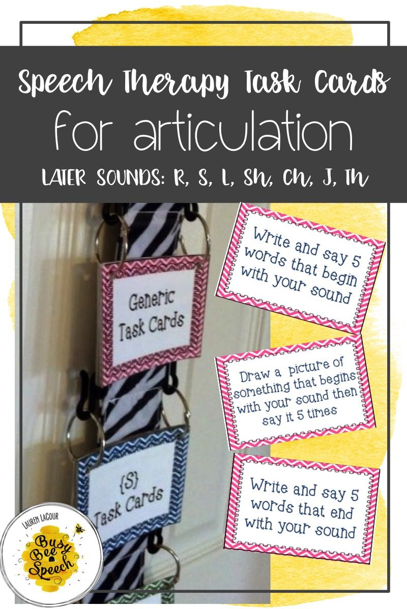 Super fun articulation task card activities.  Perfect materials for your older kids in speech therapy.