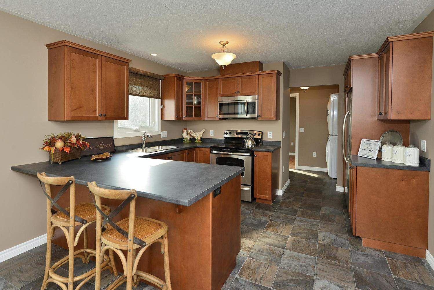 The Riverstone - at the 2012 International Plowing Match ... on Gray Countertops With Maple Cabinets  id=15669