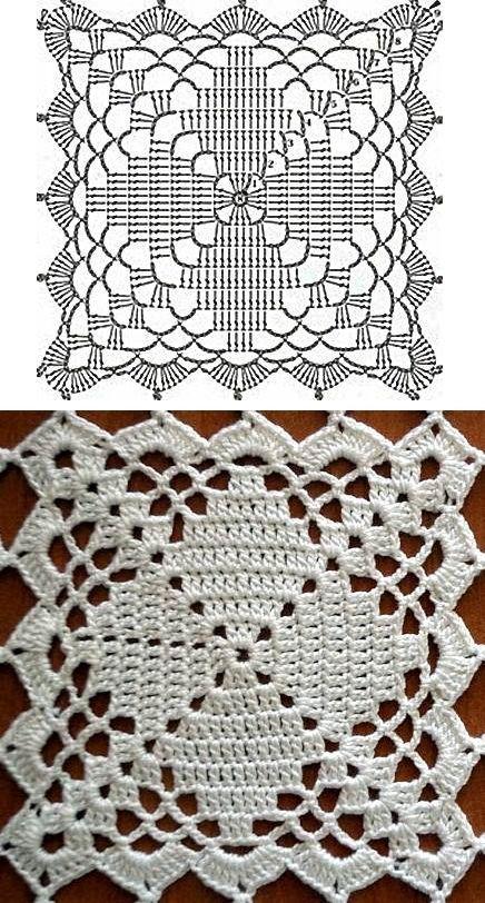 carpeta 1 … | Crochet Motifs 5 | Pinterest | Quadratische muster ...