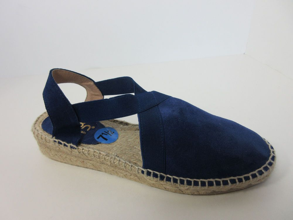 501b34116fb Picon Spain Made Womens Slate Blue Sling Back Suede Flat Espadrilles Shoes  7.5 M  Picon  Espadrilles  Casual