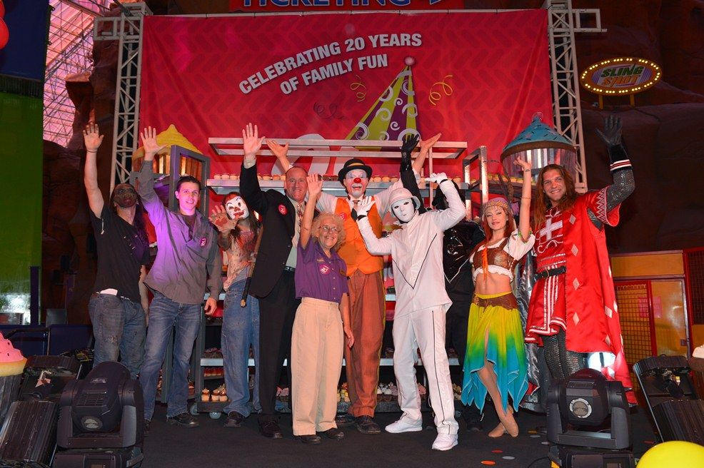 Celebs and Clowns Join Circus Circus Family for 20th Birthday Bash at The Adventuredome