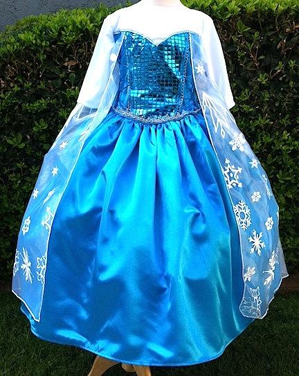 Elsa Frozen Ice Queen Princess Dress by CNLChildrensApparel, $75.00