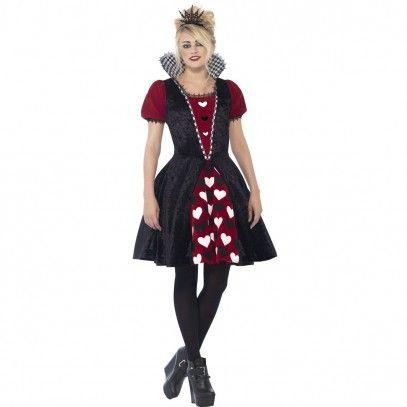 Düstere Herzdame Kostüm für Teenager | Königin der herzen ...
