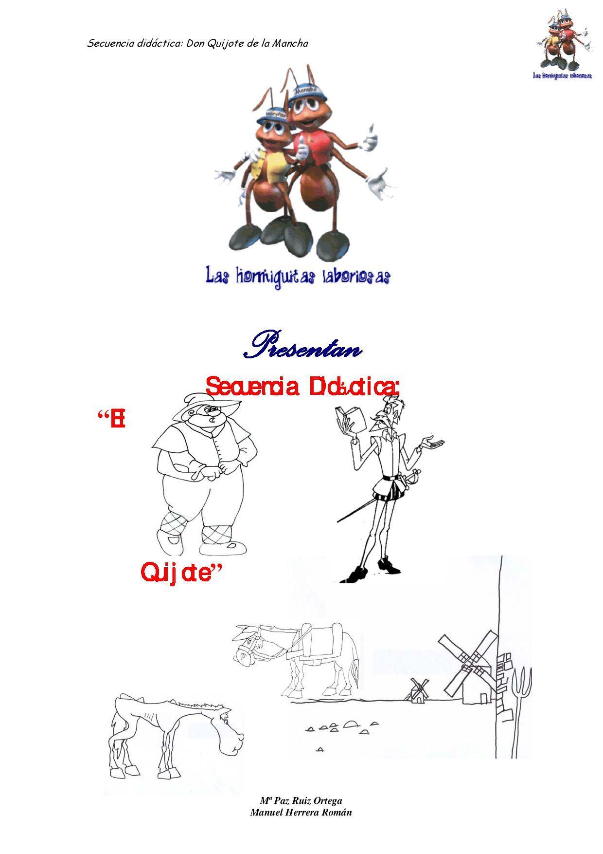 Secuencia Didactica El Quijote Con Imagenes El Quijote Para