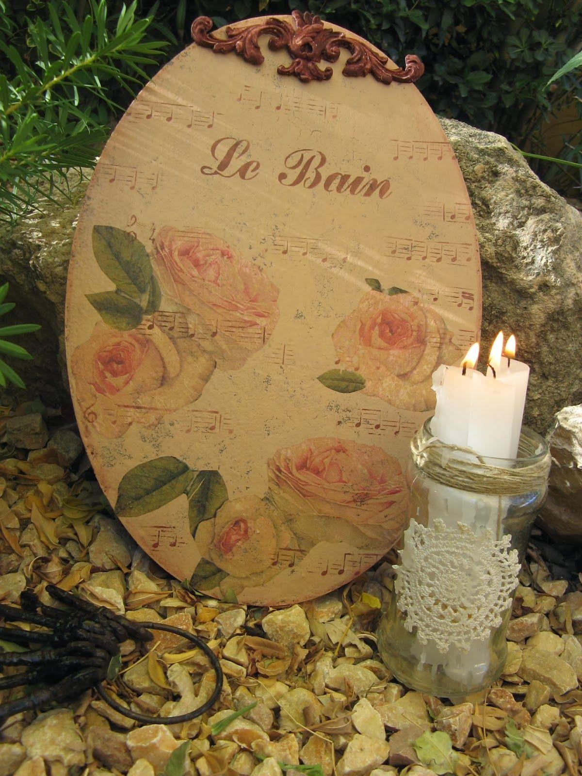 Ovalo de dm decorado con decoupage de servilleta y estarcidos trabajos manualidades y - Manualidades y bricolaje ...