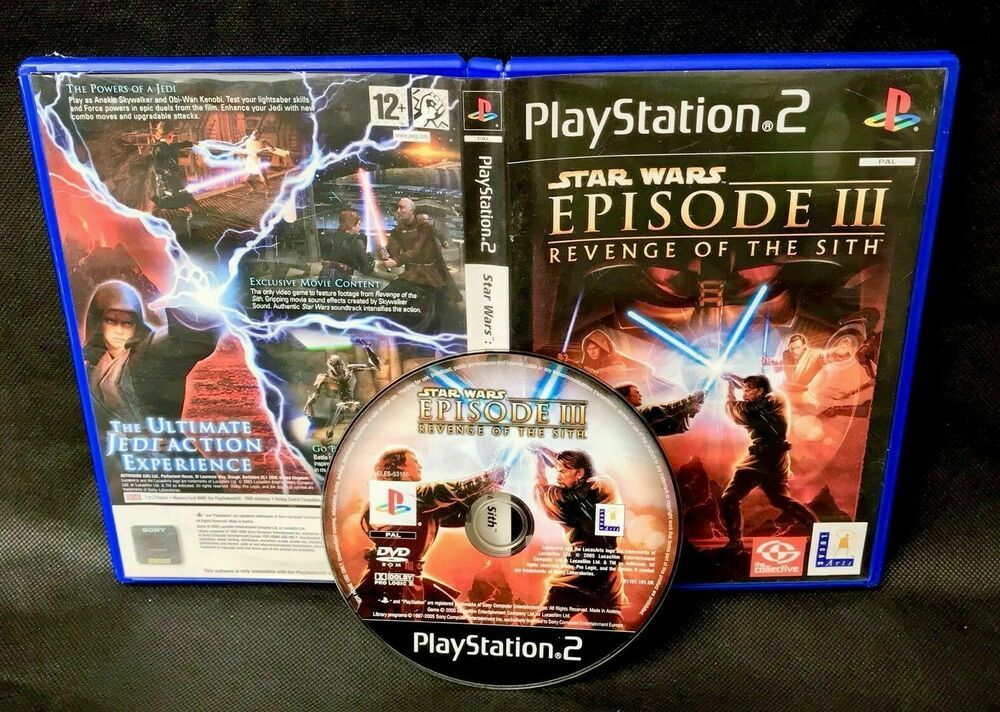 Ps2 Star Wars Episode Iii 3 Revenge Of The Sith Playstation 2 Game Pal 12 Lucasarts In 2020 Star Wars Sith Star Wars Episodes Revenge